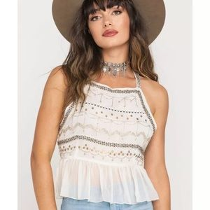 FREE PEOPLE | Camille Embroidered Camisole